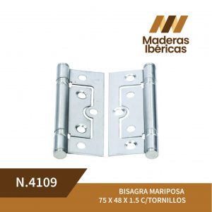 BISAGRA MARIPOSA 75 X 48 X 1.5 C/TORNILLOS